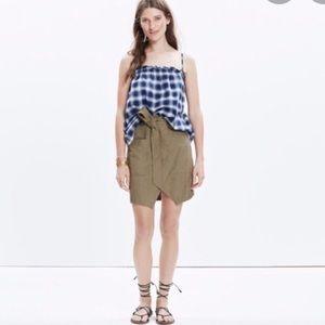 Madewell Portside tie waist skirt
